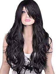 abordables -Pelucas sintéticas Pelo sintético Negro / Marrón Peluca Mujer Larga Sin Tapa