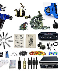 cheap -Tattoo Machine Professional Tattoo Kit 1 steel machine liner & shader 2 rotary machine liner & shader 1 alloy machine liner & shader High
