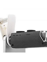100x zoom clip microscope micro camera kit para celular - preto