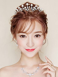 cheap -Women's Cubic Zirconia Pearl Headband,Asian Formal Style Classic Style Imitation Pearl Rhinestone All Seasons