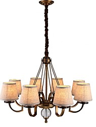 cheap -Rustic/Lodge Traditional/Classic Mini Style Adjustable Chandelier Uplight For Living Room Bedroom 2800lm 110-120V 220-240V Bulb Included