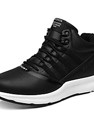 cheap -Men's Shoes Synthetic Microfiber PU Spring Fall Comfort Athletic Shoes Walking Shoes for Athletic Black Gray Almond