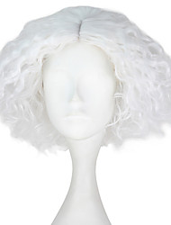 cheap -Synthetic Wig Kinky Curly White Men's Capless Carnival Wig Halloween Wig Party Wig Lolita Wig Natural Wigs Cosplay Wig Short Synthetic