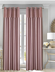 cheap -Blackout Curtains Drapes Bedroom Solid Colored Color Block Patchwork Polyester Pleated