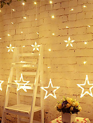 cheap -Star Curtain Lights 8 Modes With 12 Stars 138 LEDs Waterproof Linkable Curtain String Lights String Light