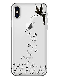 Недорогие -Кейс для Назначение Apple iPhone X / iPhone 8 Plus С узором Кейс на заднюю панель Композиция с логотипом Apple Мягкий ТПУ для iPhone X / iPhone 8 Pluss / iPhone 8