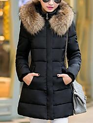 economico -Per donna Per uscire Tinta unita Moda città Standard Imbottito Senza maniche Inverno
