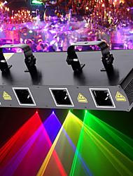 Недорогие -U'King Лазерный PAR-прожектор 7 DMX 512 Ведущее устройство Активация звуком Авто Дистанционное управление 30 для Клуб Свадьба