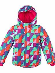 Недорогие -Девочки Лыжная куртка С защитой от ветра Пригодно для носки Катание на лыжах Палки для хождения по снегу Снежные виды спорта Полиэстер