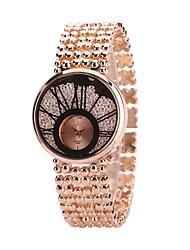 abordables -Femme Quartz Montre Bracelet Chinois Imitation de diamant Alliage Bande Luxe Décontracté Montre Habillée Argent Doré Or Rose