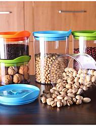 1set Køkken Plastik Opbevaring af fødevarer