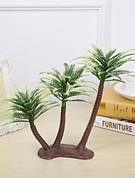 cheap -13cm 4 Pcs Home Decoration Mini Artificial Plastic Coconut Trees