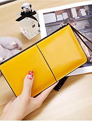 cheap -Women Bags PU Wallet Zipper for Event/Party Shopping All Season Yellow Fuchsia Light Purple Sky Blue Royal Blue