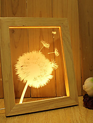 cheap -1 Set Of Home Decoration Acrylic 3D Night Light LED Lamp USB Mood Lamp, Photo Frame Light, Dimming, 3W, Dandelion