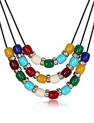 Недорогие -Жен. Ожерелья с подвесками - Позолота Мода Цвет радуги Ожерелье Бижутерия 1 Назначение Для вечеринок, Повседневные