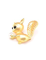cheap -Women's Brooches Imitation Pearl Animals Lovely Sweet Imitation Pearl Alloy Gold Jewelry For Daily Going out