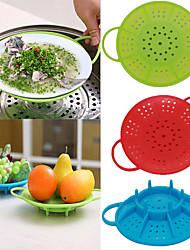 plaque de cuisson à la vapeur de légume de silicone végétale couvercle résistant à la chaleur de cuisine