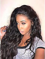 Недорогие -Натуральные волосы Полностью ленточные Парик Бразильские волосы Волнистые Свободные волны 130% плотность 100% девственница Природные