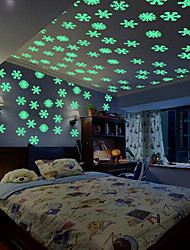 cheap -50PCS/Set Colorful Luminous Home Snowflake Wall Sticker Glow In The Dark Decal for Kids Baby Rooms