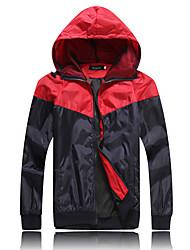cheap -Men's Plus Size Jacket - Color Block, Patchwork