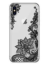 For iPhone X iPhone 8 Case Cover Ultra-thin Transparent Pattern Back Cover Case Lace Printing Soft TPU for Apple iPhone X iPhone 8 Plus