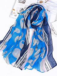cheap -Women's Cotton Linen Rectangle Print All Seasons
