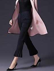Dámské Jednoduchý Neelastické Provozovna Kalhoty Mid Rise Polyester elastan Jednobarevné Zima Jaro/podzim