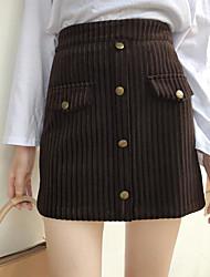 preiswerte -Damen Klassisch & Zeitlos Mini Röcke - Solide