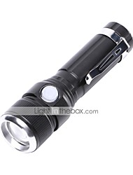 cheap -U'King LED Flashlights / Torch LED 1000 lm 3 Mode Cree T6 Portable Durable Camping/Hiking/Caving Everyday Use Cycling/Bike Hunting Fishing