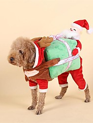 cheap -Dog Costume Christmas Dog Clothes Christmas Red Other Material Down Costume For Pets Men's Women's Christmas