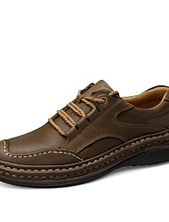 cheap -Men's Shoes Cowhide Leather Nappa Leather Spring Summer Driving Shoes Comfort Formal Shoes Oxfords for Casual Office & Career Light Brown