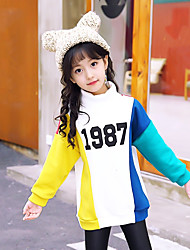cheap -Girls' Blouse, Cotton Winter Long Sleeves Active White