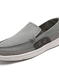 cheap -Men's Shoes Canvas Spring Fall Comfort Loafers & Slip-Ons For Casual Army Green Gray Dark Blue
