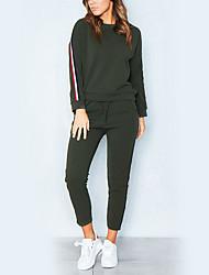 cheap -Women's Hoodie - Striped Pant