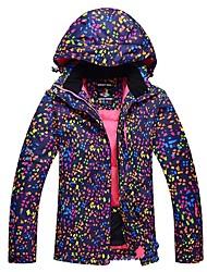 cheap -Women's Ski Jacket Warm Waterproof Windproof Wearable Antistatic Breathability UV resistant Ski / Snowboard Hiking PU Leather