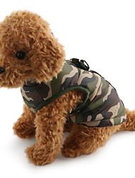 baratos -Cachorro Casacos Colete Roupas para Cães camuflagem Vermelho Verde Azul Rosa claro Cor camuflagem Algodão Ocasiões Especiais Para animais