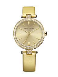 Women's Wrist watch Fashion Watch Quartz Water Resistant / Water Proof Imitation Diamond Genuine Leather Band