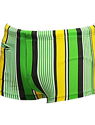 cheap -Men's Swim Shorts Chlorine resistance Nylon / Spandex Swimwear Beach Wear Board Shorts Stripe Swimming / Surfing