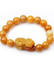 cheap -Women's Onyx Strand Bracelet - Asian Fashion Circle Yellow Bracelet For Gift Date