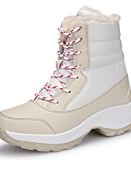 cheap -Women's Shoes Nylon Synthetic Winter Fall Fashion Boots Fur Lining Snow Boots Boots Round Toe Mid-Calf Boots for Casual Outdoor Black