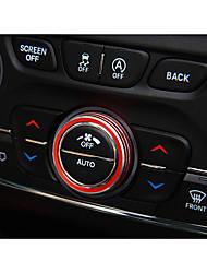 economico -Settore automobilistico Manopola di aria condizionata Interni fai-da-te per auto Per Jeep Tutti gli anni Cherokee lega di alluminio