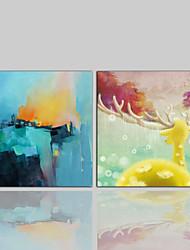 キャンバスプリント コンテンポラリー クラシック 田園風 近代の,2枚 キャンバス プリント 壁の装飾 For ホームデコレーション