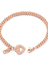 cheap -Women's Chain Bracelet Titanium Steel Rose Gold Plated Jewelry Wedding Party Costume Jewelry