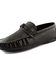 Homme Chaussures Polyuréthane Printemps Automne Confort Moccasin Mocassins et Chaussons+D6148 Pour Décontracté Noir Gris Marron Bleu