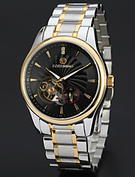 abordables -FORSINING Homme Remontage automatique Montre Bracelet Japonais Gravure ajourée Acier Inoxydable Bande Luxe / Rétro / Décontracté / Mode