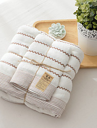 Fresh Style Bath Towel Set,Striped Superior Quality Poly/Cotton Towel