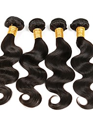 baratos -4 pacotes Cabelo Brasileiro Onda de Corpo Cabelo Remy Cabelo Humano Ondulado Tramas de cabelo humano Extensões de cabelo humano