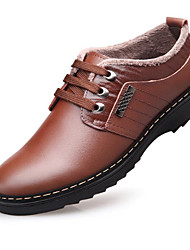 cheap -Men's Shoes Real Leather Winter Comfort Oxfords For Casual Brown Black