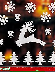 Noël Stickers muraux Autocollants muraux 3D Autocollants muraux décoratifs,Papier Matériel Décoration d'intérieur Calque Mural