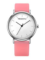levne -REBIRTH Dámské Náramkové hodinky čínština Voděodolné Silikon Kapela Na běžné nošení / Elegantní / Minimalistické Bílá / Modrá / Hnědá
